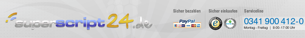 superscript24 - 3D Logo & Buchstaben, Werbefiguren, Schaufensterdekoration