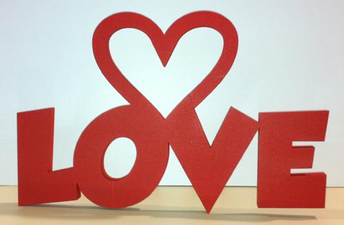Saisonale Schriftzüge Love 3d Schriftzug Mit Herz